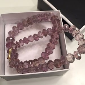 Jewelry - Real amethyst necklace